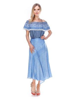 Спідниця сіро-блакитна | 3030253