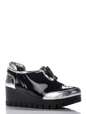 Туфлі сріблясто-чорні | 3230502