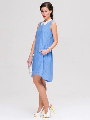 Сукня блакитна в горох | 3238903