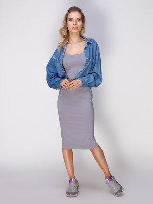 Сукня світло-сіра | 3229802
