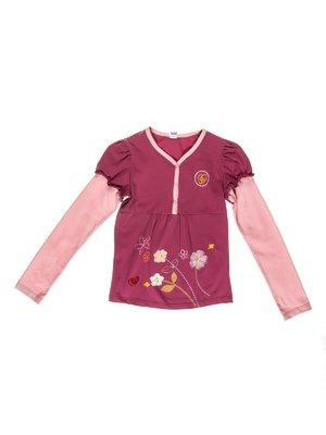 Лонгслів бузково-рожевий з малюнком | 3209872