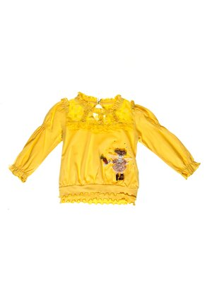 Туніка жовта з аплікацією | 3210004