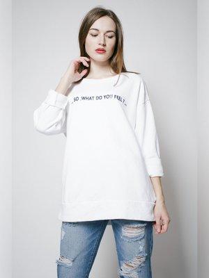Джемпер белый с надписью | 3171438