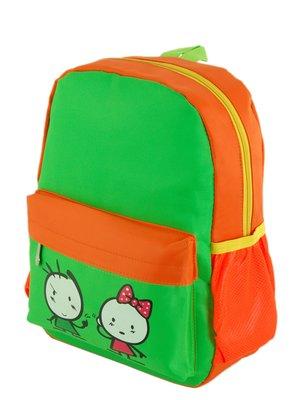 Рюкзак зелено-помаранчевий | 3201839