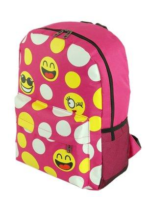 Рюкзак малинового кольору в принт | 3201842