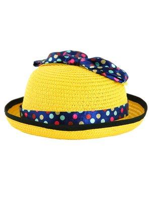 Капелюх жовтий з декором | 3201845