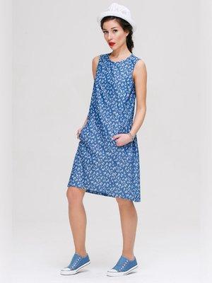 Платье синее в принт   3250625