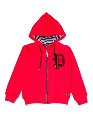 Куртка спортивна червона з принтом | 3250672