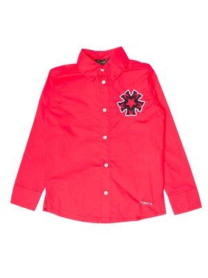 Сорочка червона з нашивкою | 3250702