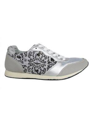 Кросівки сірі з принтом | 3250365