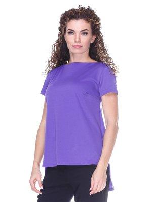 Блуза фиолетовая с асимметричным низом | 3234374