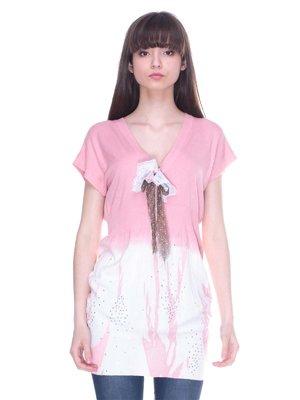 Туніка рожево-біла   3138063