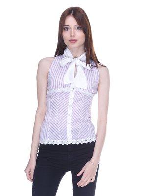 Блуза белая в полоску | 3138075