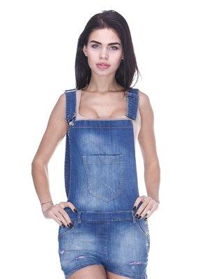 Комбинезон синий джинсовый   3138050