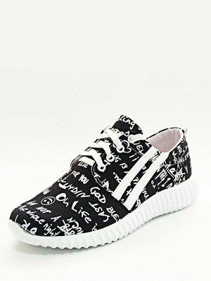 Кросівки чорні у принт | 3228472