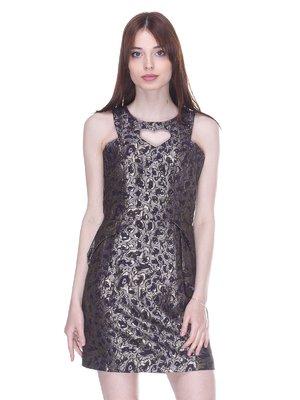 Сукня сталевого кольору у візерунок | 3137974
