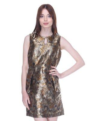Сукня золотиста у візерунок | 3137976