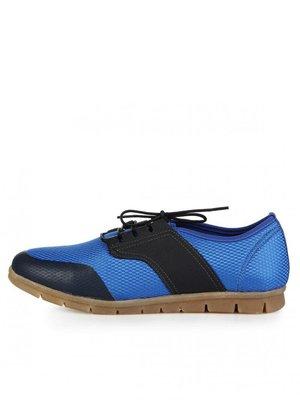 Туфли черно-голубые | 3248695