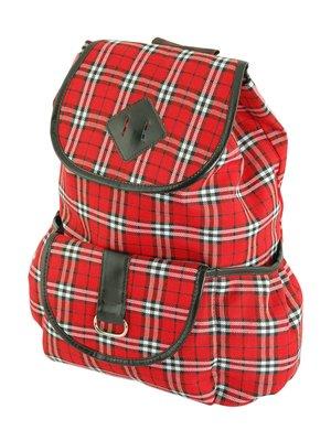 Рюкзак червоний в клітинку | 3256508