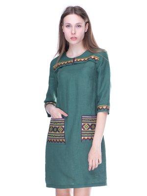 Сукня зелена з вишивкою | 3238461