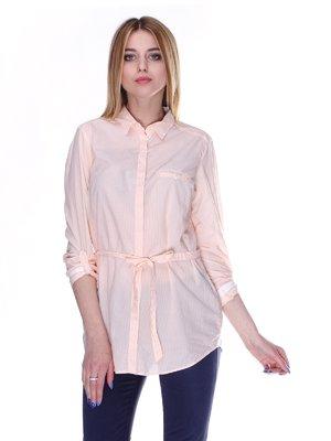 Рубашка персикового цвета в полоску | 2416603