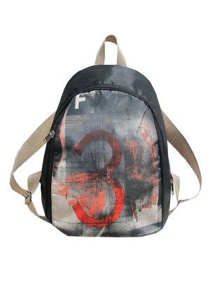 Рюкзак черный с принтом | 3153795