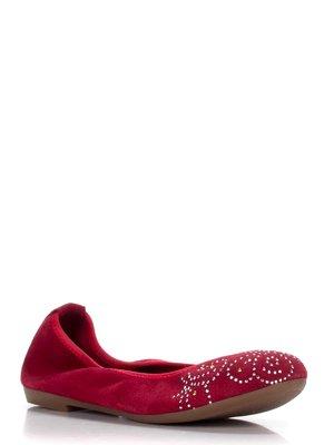 Балетки червоні з декором | 3278041