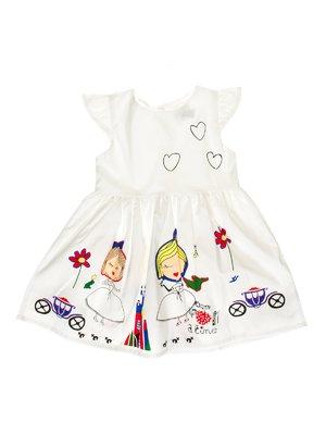 Сукня біла з принтом | 3271150