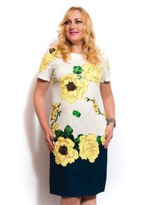 Сукня біла з жовтими квітами | 3286843
