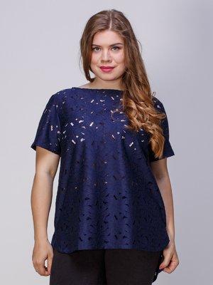 Блуза ажурная с асимметричным низом | 3260055
