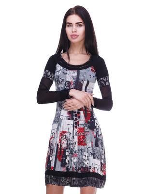 Сукня чорна в принт   3289002