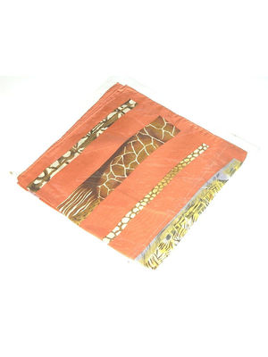 Платок оранжевый в африканский принт | 3300114
