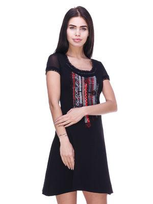 Сукня чорна в принт   3289003