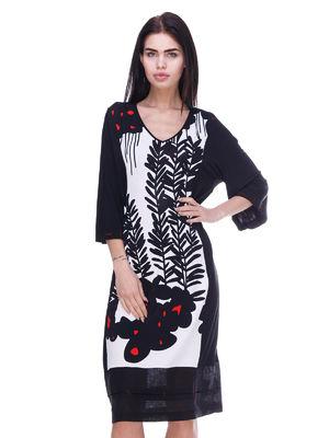 Сукня чорна в принт | 3289000