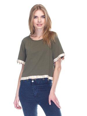 Блуза кольору хакі | 3102310