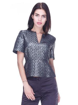 Блуза темно-серая | 3296809