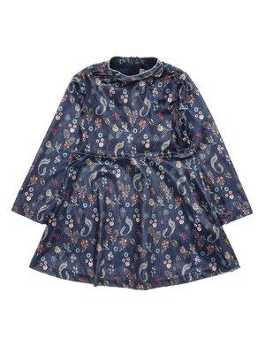 Сукня синя в принт | 3281592