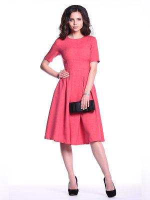 Платье цвета красный коралл | 3302005