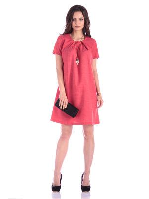 Сукня кольору червоний корал | 3302012