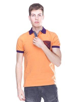 Футболка-поло оранжевая | 3297263