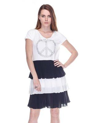 Платье черно-белое | 3297399