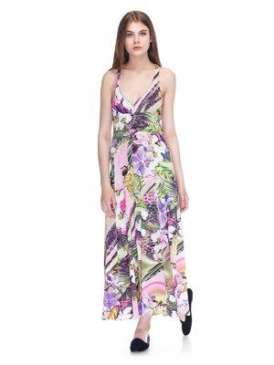 Платье комбинированной расцветки | 3297396