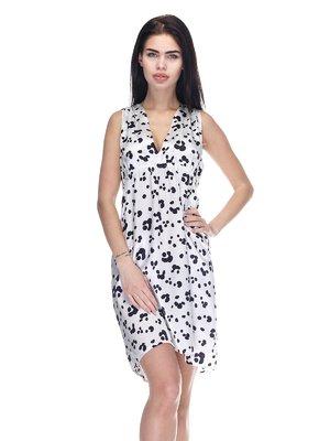 Сукня біла в принт | 3276563