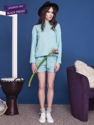 Блуза м'ятного кольору | 2249269