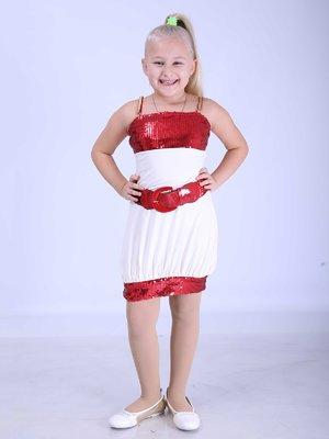 Платье бело-красное | 3308130