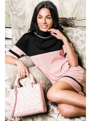 Платье черно-розовое   2157550
