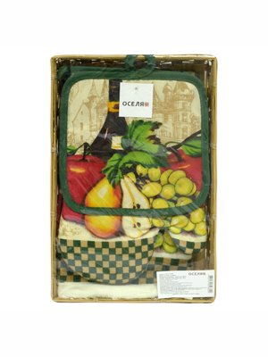 Набор кухонный в корзине «Ассорти» | 3314778