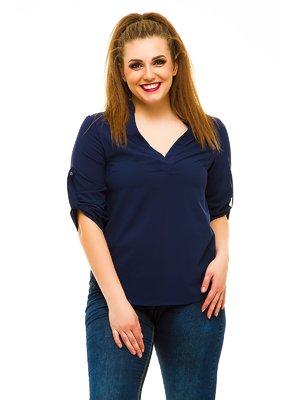 Блуза темно-синяя | 3315394