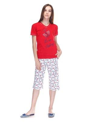 Пижама: футболка и бриджи | 3307387