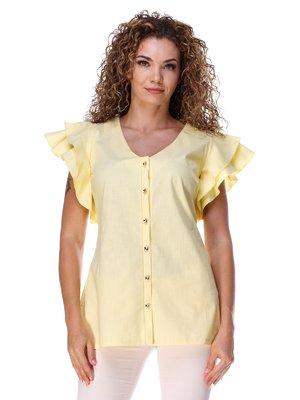 Блуза из льна желтая | 3315338